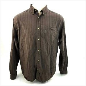 Columbia Brown Striped L/S Button Casual Shirt!